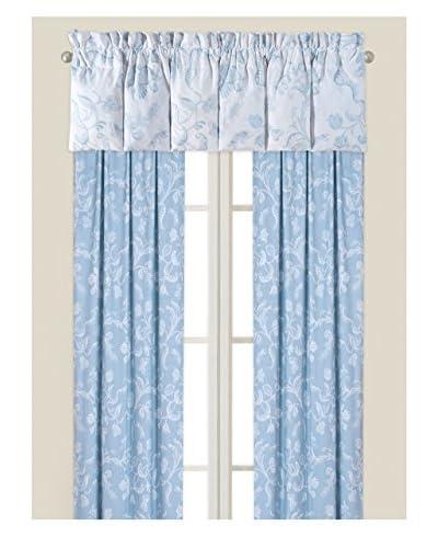 Eliza Lace Drapery Panel, Blue/White