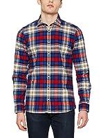 OTTO KERN Camisa Casual (Azul / Rojo / Beige)