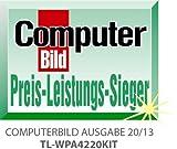 TP-Link TL-WPA4220KIT AV500 WiFi N300 Powerline Netzwerkadapter (WLAN Repeater, 2 Ports, kompatibel mit Adaptern anderer Marken, 2er Set) weiß -