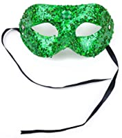 Mask It 71071 Green Bead/Glitter Half Mask by Midwest Design Imports, Inc.