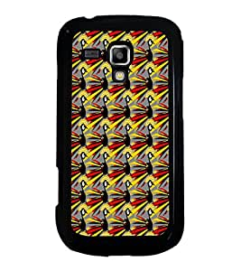 ifasho Designer Phone Back Case Cover Samsung Galaxy S Duos S7562 ( Blue Feather Leaf Colorful Pattern Design )