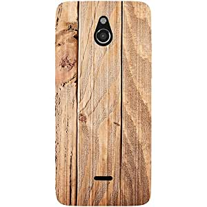 Casotec Wooden Texture Design 3D Printed Hard Back Case Cover for Infocus M2