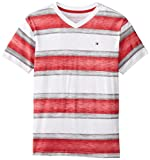 Tommy Hilfiger Big Boys' Short Sleeve Perry Tee, Bullseye, Large