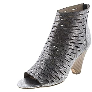 STEVEN by Steve Madden Women's Cammii Bootie,Pewter Leather,8.5 M US