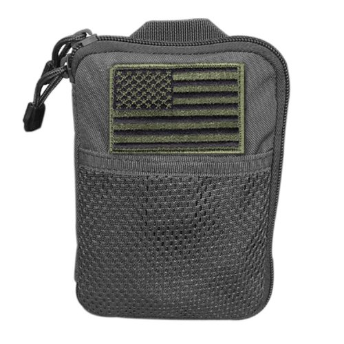 Condor Pocket Pouch/US Patch (Black, 7.25 x 5-Inch)
