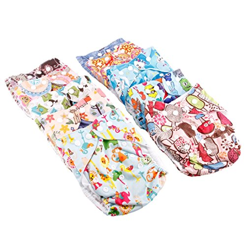 Cloth Diapers ,Nappies - Haqile Garden Pattern Tpu Waterproof And Side-Leakage Preventing Cloth Diaper