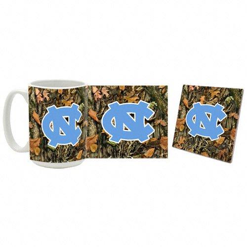 North Carolina Tar Heels Camouflage Mug and Coaster Set