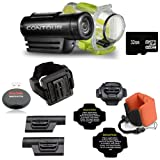 ContourRoam WATERPROOF Hands-free HD Camcorder + LEXSpeed 32GB Class 10 Flash Memory Card + Bright Underwater Floating Foam Strap