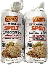 Suzie39s Spelt Puffed Cakes Plain 41 oz Bags 2 Pack