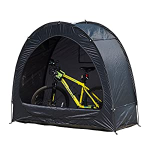 Outsunny Outdoor Portable Garage Shed Bicycle Storage Tent – Black