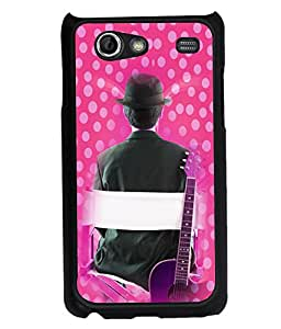 Printvisa 2D Printed Music Designer back case cover for Samsung Galaxy S Advance SM - I9070 -D4172
