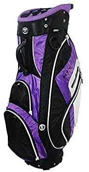 Hot-Z Golf Women's 3.5 Cart Bag, Black/Purple/White