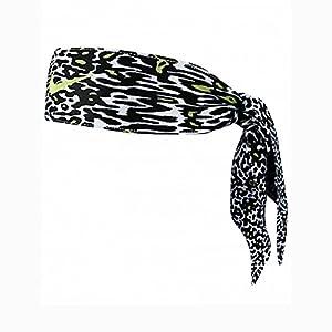 Nike Dri-Fit Head Tie 2.0 (Black/Volt Print)