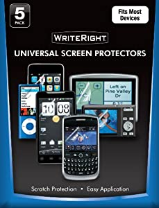 Fellowes 9689901 WriteRight Universal Screen Protector for Mobile Devices - 5 Pack