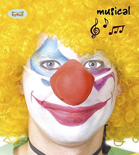 Naso rosso da pagliaccio sonoro per travestimento clown