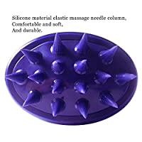 [Gentle Silicone Pins] CELEMOON Ultra-Soft Silicone Washable Cat Grooming Shedding Massage / Bath Brush - Safe & No Scratching any more - Purple