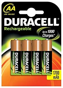 Duracell Rechargeable Batteries AA 4 pack