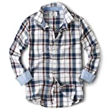 J&MOLLS Stylish Check Mens Slim Fit Casual Dress Shirt A018