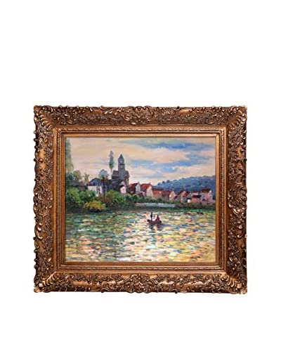Claude Monet The Seine At Vetheuil By Monet Hand-Painted Oil Reproduction