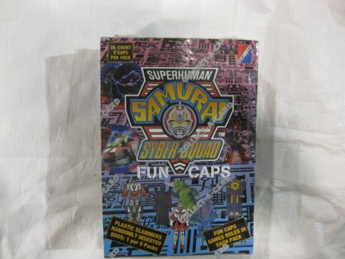 Superhuman Samurai Syber-Squad Fun Caps Full Factory Sealed Box From DIC Productions 1994 - 1