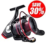 [Holiday Sale]KastKing Sharky II Spinning Reel - Carbon Fiber 41.5 LBs Max Drag Brass Gears, Stainless Steel Components, Great Value!