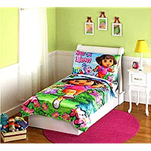 Dora Toddler Bedding Set for Girls & Toddlers