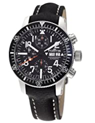 Fortis Men's 638.10.41 L.01 B-42 Official Cosmonauts Black Automatic Chronograph Date Leather Watch
