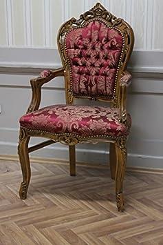 Anticato per la sala da pranzo stile barocco fogli oro Rosso Tessuto
