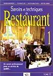 Savoir et techniques de restaurant, t...