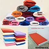Crazypriceuk-Juego de 2x crema hojas de cama sábana bajera ajustable 100% algodón 140x 70cm + 15cm