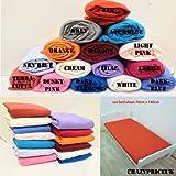 Crazypriceuk-Juego de 2x CERISE sábana bajera ajustable para cuna (2unidades 100% Jersey algodón 140x 70cm