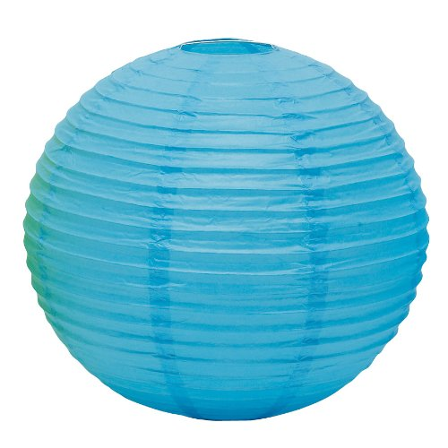Weddingstar Round Paper Lantern, Large, Caribbean Blue
