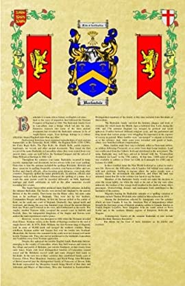 Hesdin Coat of Arms / Family Crest with Armorial History on Beautiful 11 x 17 Parchment Paper