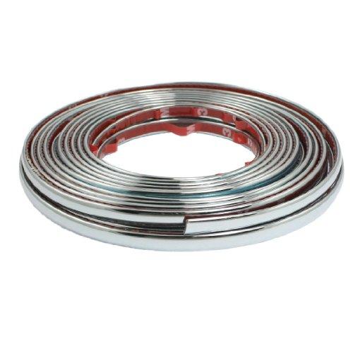Car Window Silver Tone PVC Adhesive Moulding Trim Strip Line 8M x 8mm