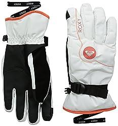 Roxy SNOW Junior's Jetty Solid Snow Gloves, Bright White, Medium