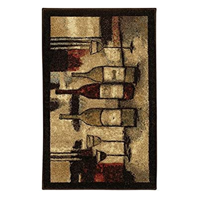 Mohawk Home New Wave Wine And Glasses Printed Rug