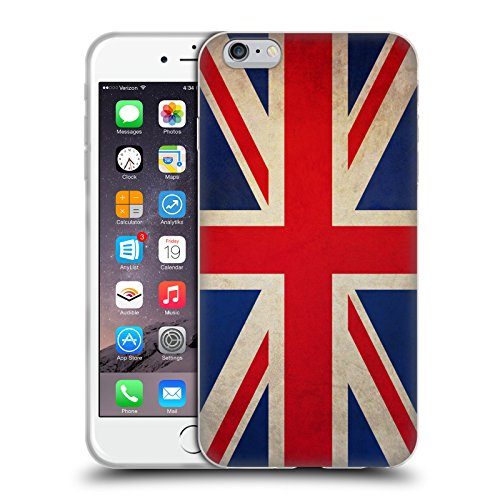 Head Case Designs Great Britain British Vintage Flags Soft Gel Case for Apple iPhone 6 Plus / 6s Plus (Iphone 6 Plus Case British compare prices)