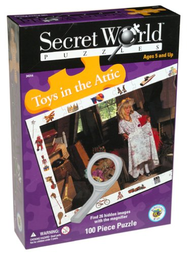 Secret World Toys in the Attic I Spy Game - 100 Piece Jigsaw Puzzle