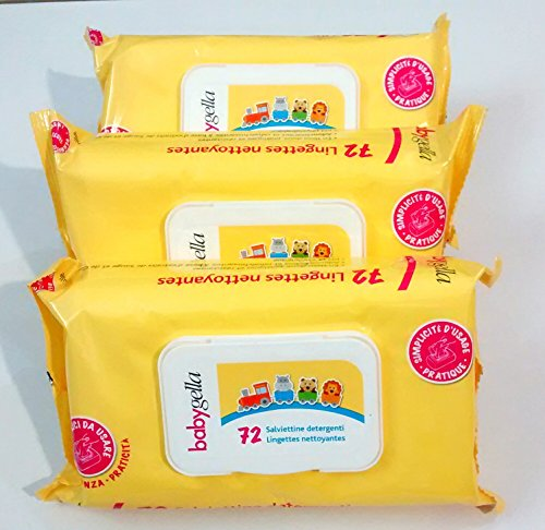3 babygella 72(x3) salviettine detergenti
