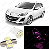 Pink LED Mazda 3 Interior Package Deal 2010 - 2011 (6 Pieces)