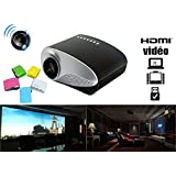 Portable Mini Projector LCD LED Portable HD Home Theater (60 Lumens, 320— 480, VGA HDMI AV USB SD Manual Focus...