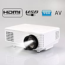 Flylinktechreg RD-805 Mini Portable Led Projector With HDMIUSBVGAAV Input Home Theater Video Games T