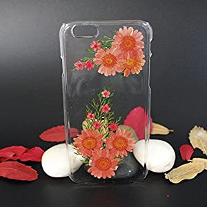 Beautiful Real Flowers Clear Slim Unique Design Phone Case for iPhone 6(2)