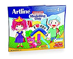 Artline Modelling Clay (6 Colors) - Pack Of 5
