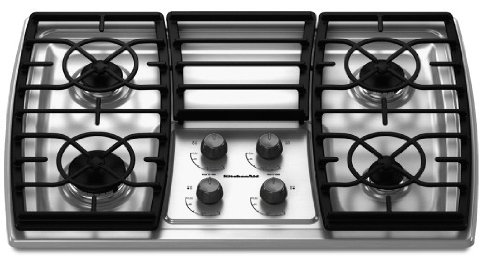 KitchenAid KGCK306VSS 30 Gas Cooktop – Stainless Steel  ->  Cook a great meal on this gas cooktop that feature