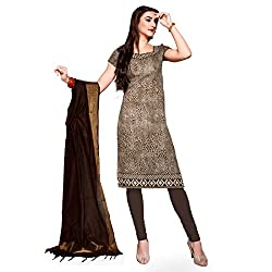 Resham Fabrics Brown Bhagalpuri Dress Material