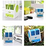 Mini Fan & Portable Dual Bladeless Small Air Conditioner Water Air Cooler Powered By USB