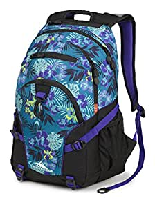 High Sierra Loop Backpack, Aloha/Black/Deep Purple