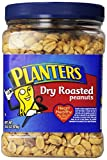 Planters Dry Roasted Peanuts, With Pure Sea Salt, 34.5-Ounce Packages (Pack of 6)