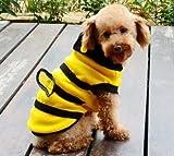 ワンコ服 黄色いミツバチ 蜂 ペット 洋服 蜜蜂 ミツバチ 犬 猫 コスプレ 衣服 【Freewave】 (10号 Mサイズ)